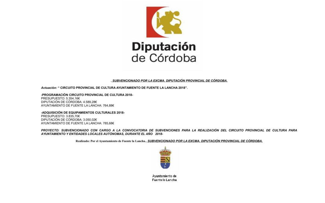 CIRCUITO DE CULTURA 2018.AYUNTAMIENTO DE FUENTE LA LANCHA.