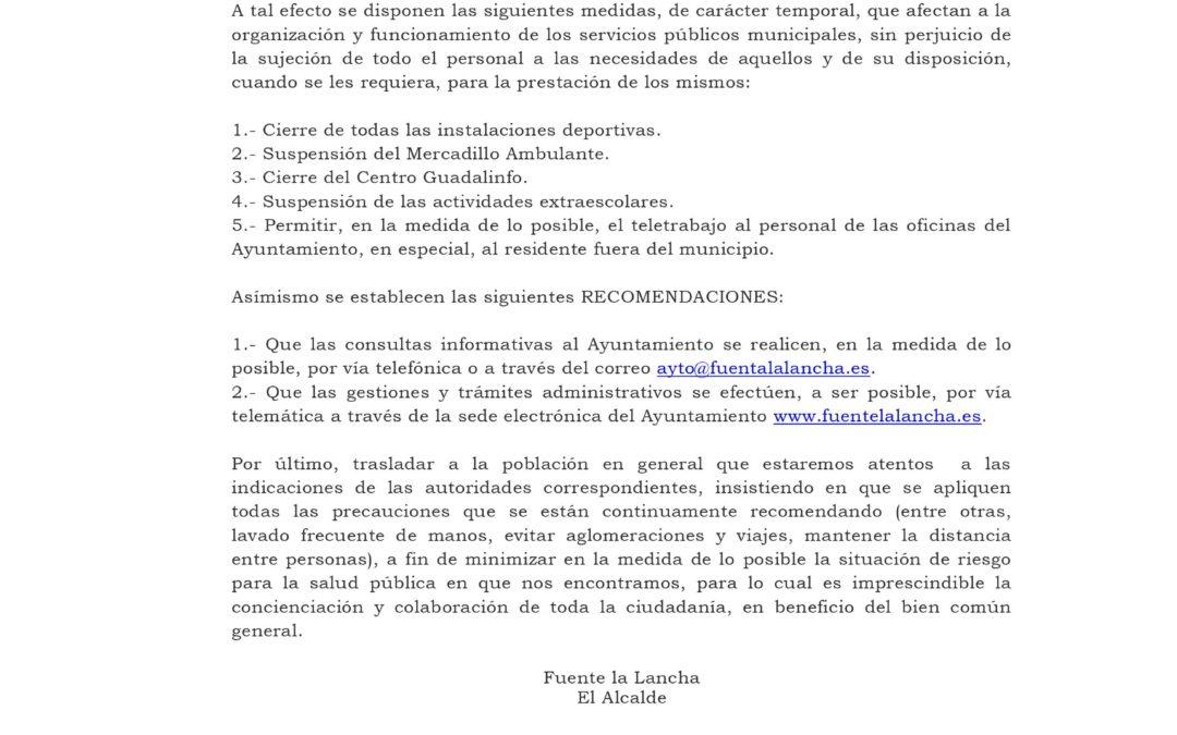 BANDO DE ALCALDIA.SERVICIOS MUNICIPALES