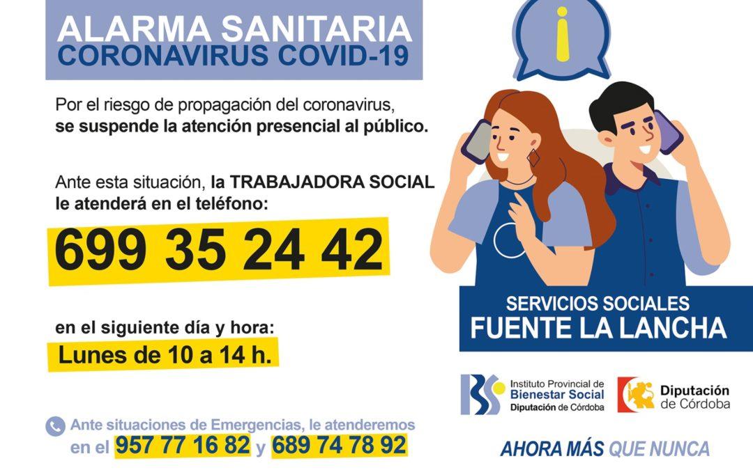 ATENCIÓN TELEFÓNICA: TRABAJADORA SOCIAL