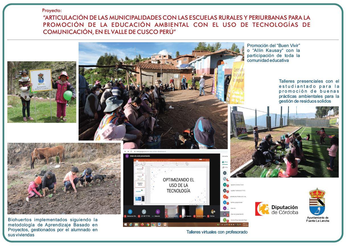 """""""ARTICULACIÓN DE LAS MUNICIPALIDADES CON LAS ESCUELAS RURALES Y PERIURBANAS PARA LA PROMOCIÓN DE LA EDUCACIÓN AMBIENTAL CON EL USO DE TECNOLOGÍAS DE COMUNICACIÓN, EN EL VALLE DE CUSCO PERÚ"""""""