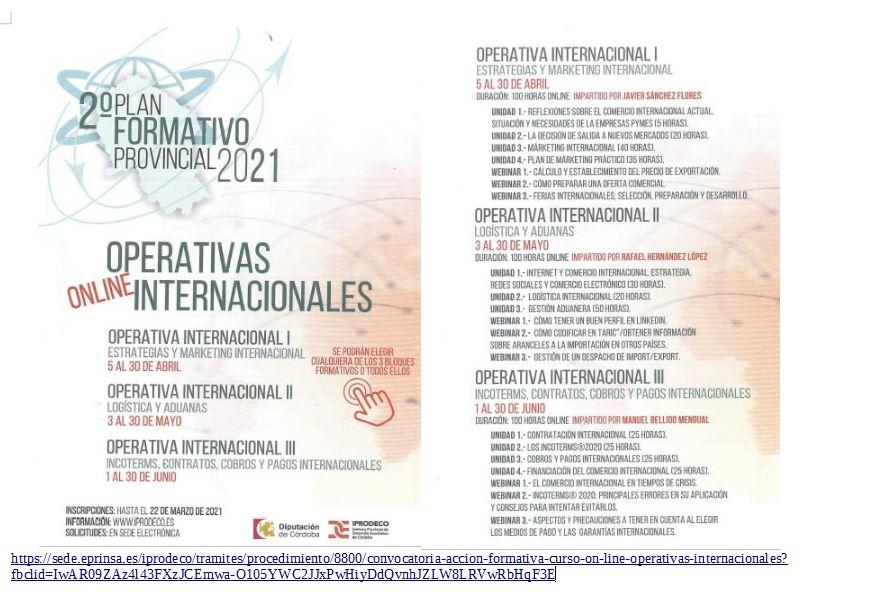 Curso Operativas Internacionales (IPRODECO)