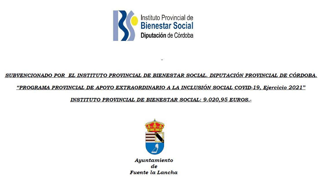 PROGRAMA PROVINCIAL DE APOYO EXTRAORDINARIO A LA INCLUSIÓN SOCIAL COVID-19, Ejercicio 2021